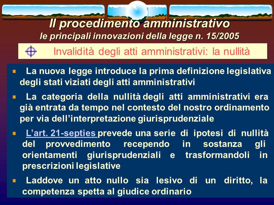 romano minardi44 Il procedimento amministrativo le principali innovazioni della legge n. 15/2005 Invalidità degli atti amministrativi: la nullità La n