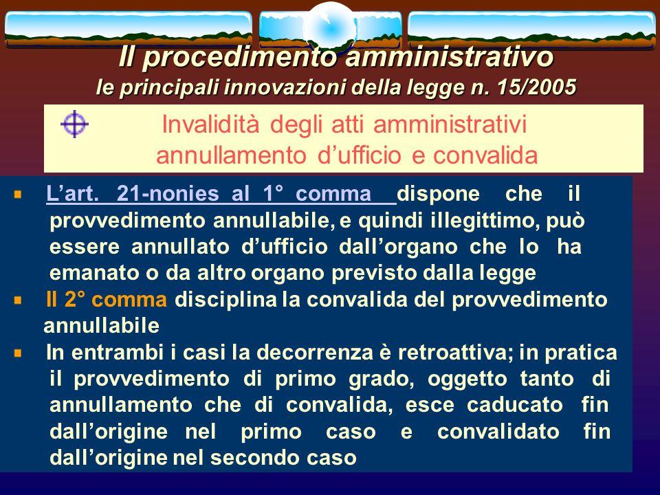 romano minardi46 Il procedimento amministrativo le principali innovazioni della legge n. 15/2005 Invalidità degli atti amministrativi annullamento duf
