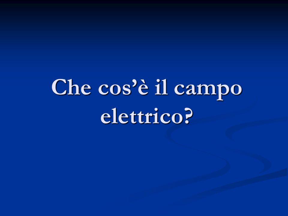 Che cosè il campo elettrico?