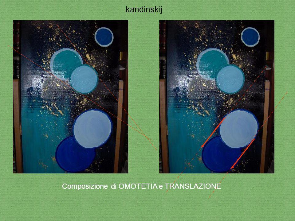 Composizione di OMOTETIA e TRANSLAZIONE kandinskij