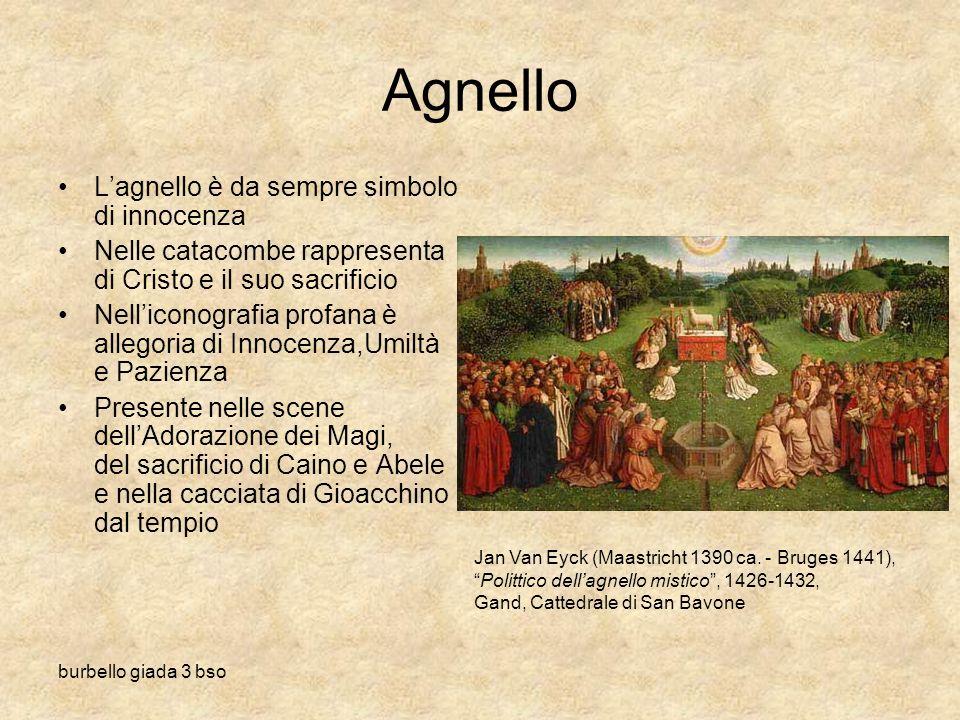 burbello giada 3 bso Agnello Lagnello è da sempre simbolo di innocenza Nelle catacombe rappresenta di Cristo e il suo sacrificio Nelliconografia profa
