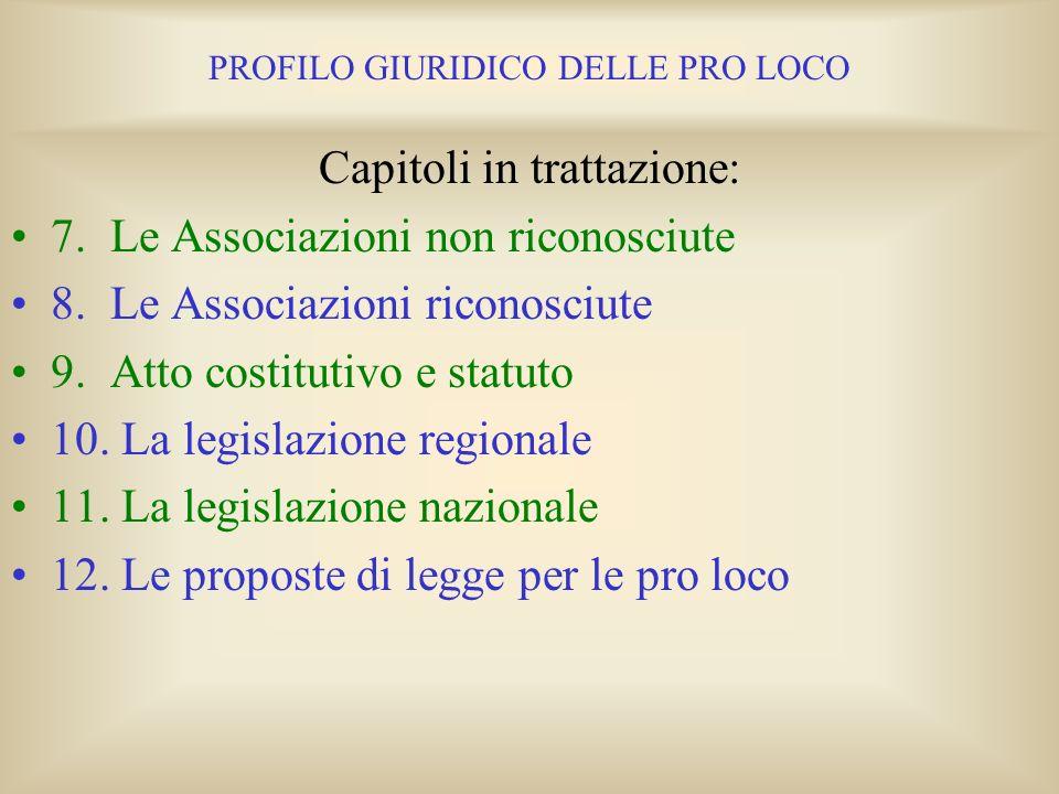 PROFILO GIURIDICO DELLE PRO LOCO Capitoli in trattazione: 1. Il non profit nella Costituzione Italiana 2. La definizione di Ente senza scopo di lucro