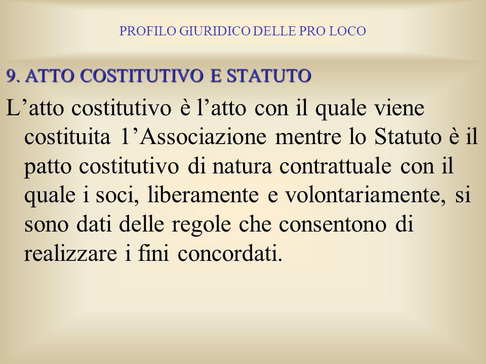 PROFILO GIURIDICO DELLE PRO LOCO Resta fermo il principio generale che comunque la responsabilità penale è personale, per cui il possesso della person
