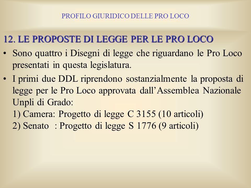 PROFILO GIURIDICO DELLE PRO LOCO Si omette la elencazione delle leggi il cui elenco lo potete consultare dallo stampato