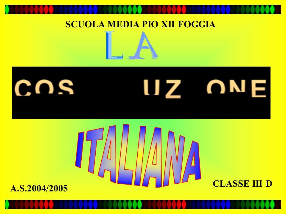 CLASSE III D SCUOLA MEDIA PIO XII FOGGIA A.S.2004/2005