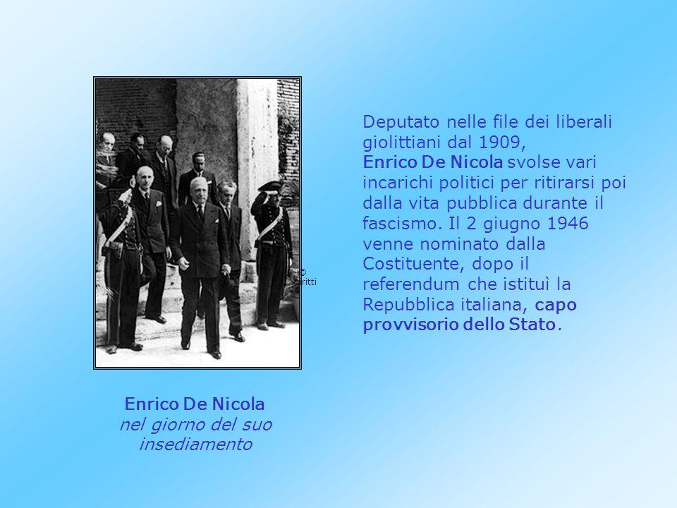 Farabolafoto Enrico De Nicola Deputato nelle file dei liberali giolittiani dal 1909, Enrico De Nicola svolse vari incarichi politici per ritirarsi poi