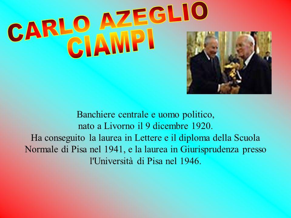 Banchiere centrale e uomo politico, nato a Livorno il 9 dicembre 1920. Ha conseguito la laurea in Lettere e il diploma della Scuola Normale di Pisa ne