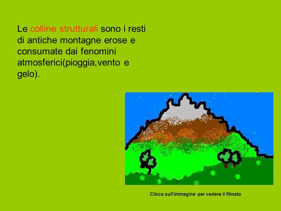Clicca sullimmagine per vedere il filmato Le colline strutturali sono i resti di antiche montagne erose e consumate dai fenomini atmosferici(pioggia,vento e gelo).