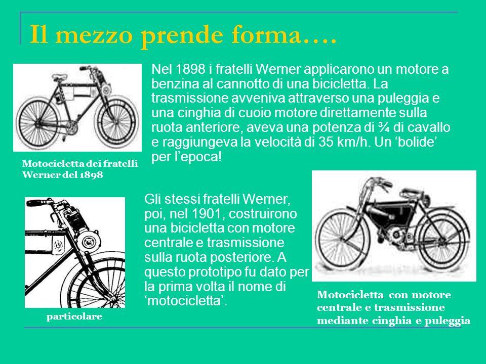Le prime aziende Dallinizio del 1900 in Italia e in Europa cominciarono a sorgere ditte artigianali che producevano motociclette.