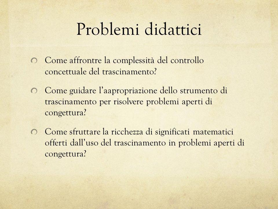 Problemi didattici Come affrontre la complessità del controllo concettuale del trascinamento.