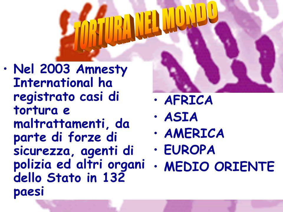 Nel 2003 Amnesty International ha registrato casi di tortura e maltrattamenti, da parte di forze di sicurezza, agenti di polizia ed altri organi dello