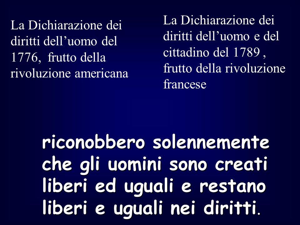 1848 Viene promulgato lo Statuto albertino nel Regno sardo- piemontese, successivamente, con la proclamazione del Regno dItalia nel 1861, esteso a tutto il territorio italiano: nasce la prima Costituzione dello Stato italiano Fine 800 e inizio 900 I diritti assunsero un significato più ampio.