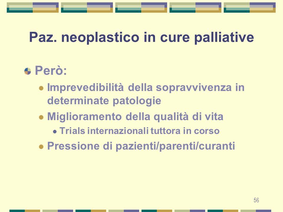 57 Paz.neoplastico in cure palliative Quale via.
