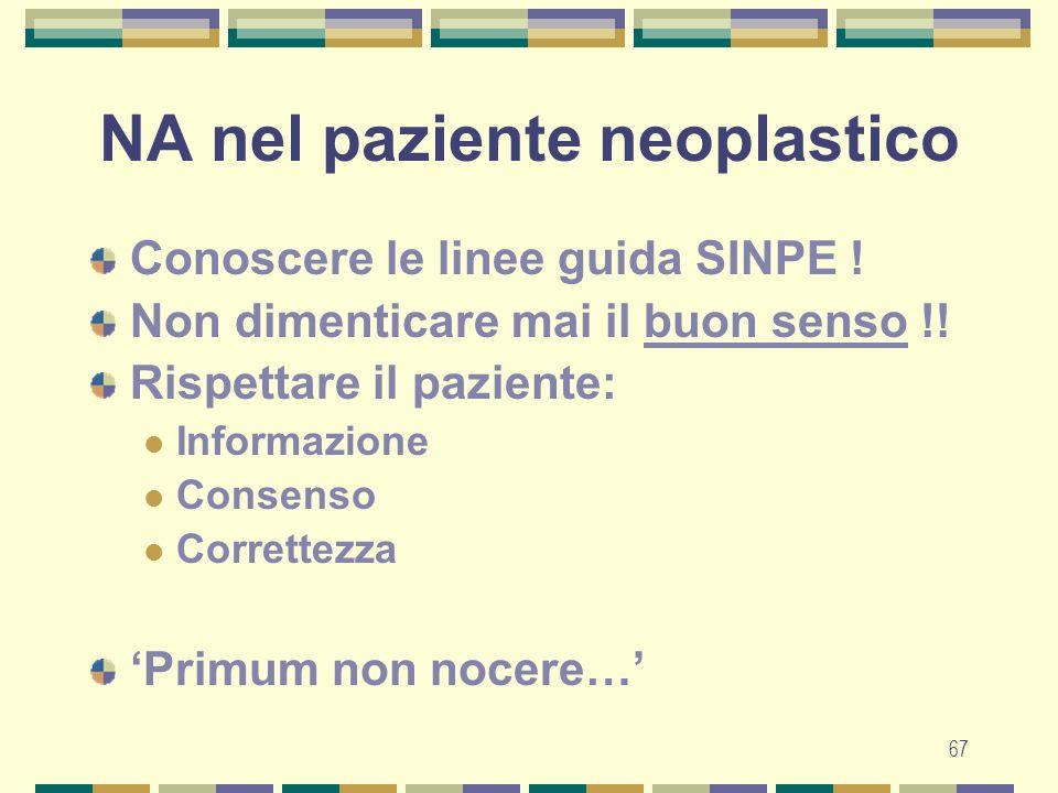 67 NA nel paziente neoplastico Conoscere le linee guida SINPE .