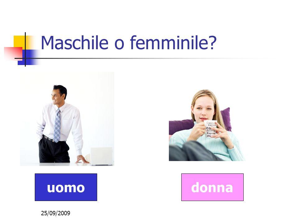 25/09/2009 Maschile o femminile? uomodonna