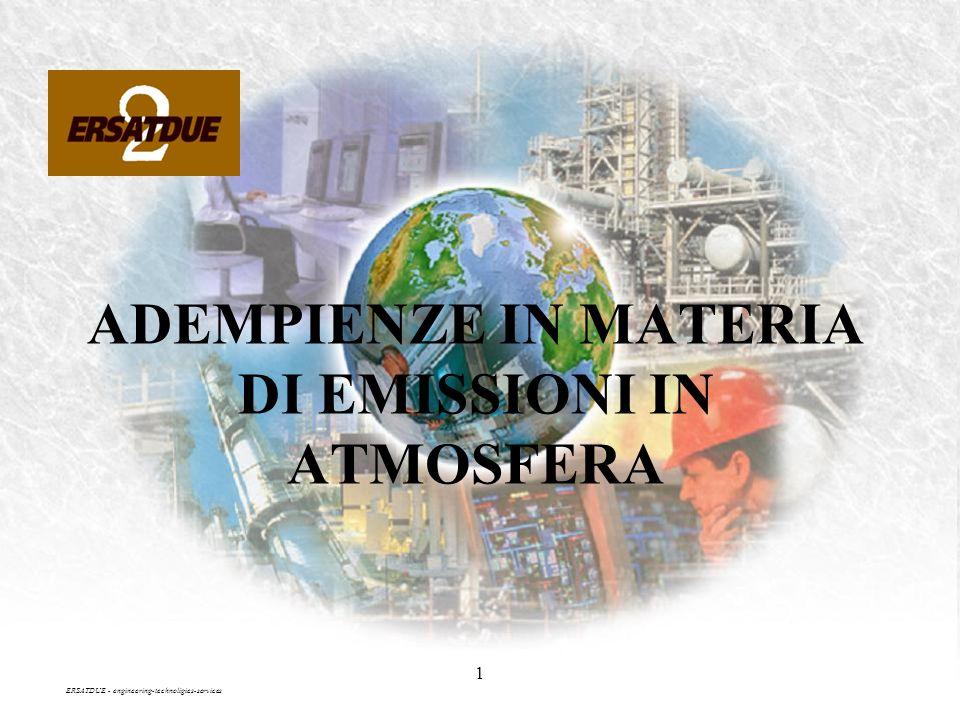 1 ADEMPIENZE IN MATERIA DI EMISSIONI IN ATMOSFERA ERSATDUE - engineering-technoligies-services