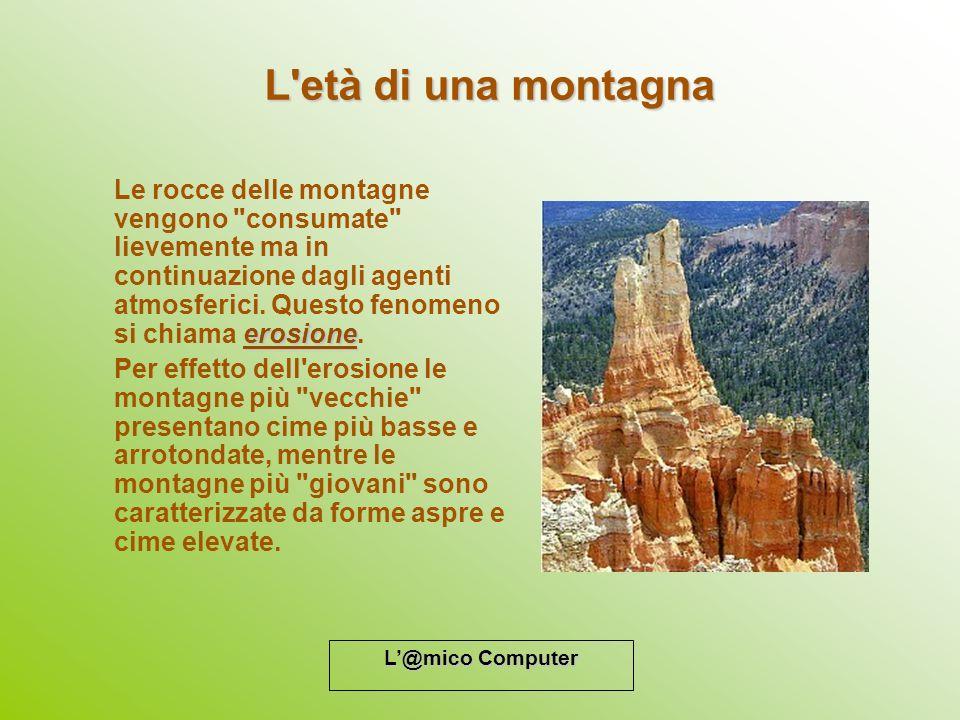L@mico Computer L'età di una montagna erosione Le rocce delle montagne vengono