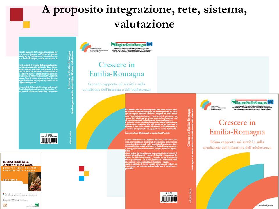 27 A proposito integrazione, rete, sistema, valutazione