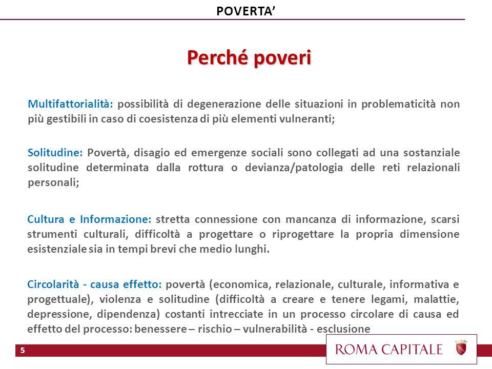 Famiglie povere 170.000 (/1.163.000 = 15% ) famiglie povere o a rischio, di cui prevalentemente con 1 solo genitore o 1 sola persona per le più anziana Roma Lazio Incidenza nel Lazio : 8% in aumento dal 2007 ( Su 5.500.000 ab.