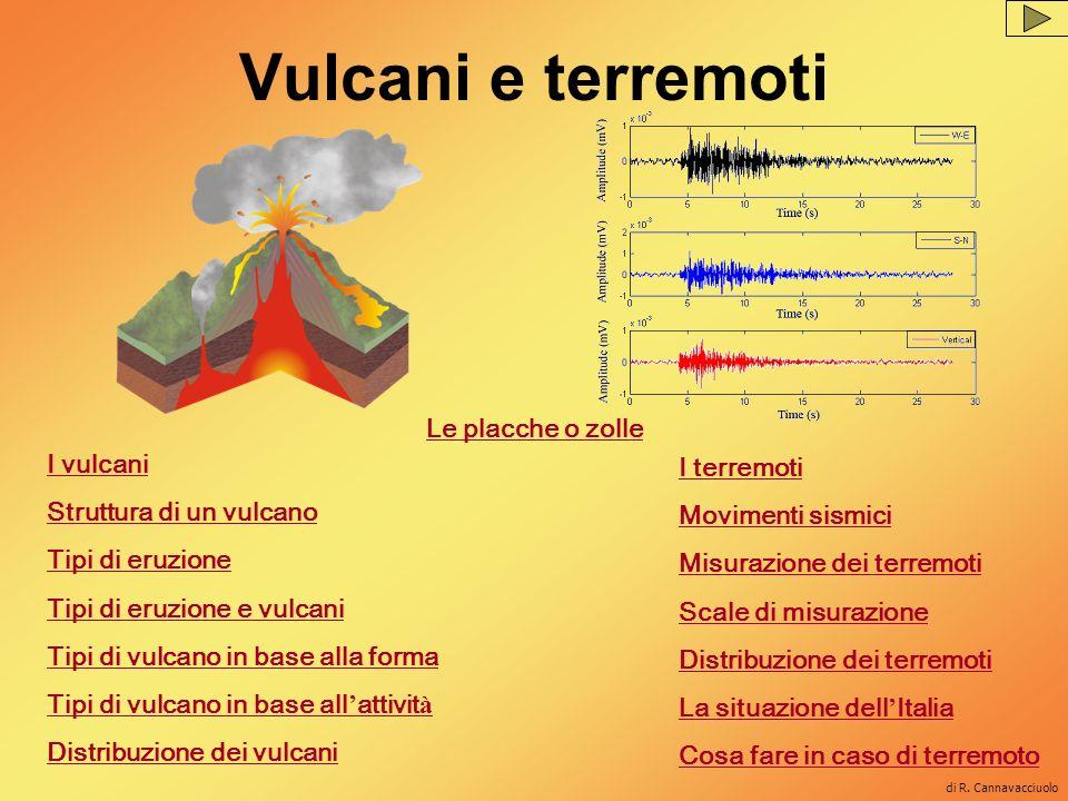 Cartina dei vulcani