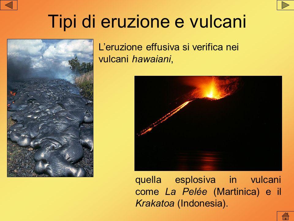 LEtna (Sicilia), avendo un magma di tipo intermedio- basico, ha eruzioni in prevalenza effusive.