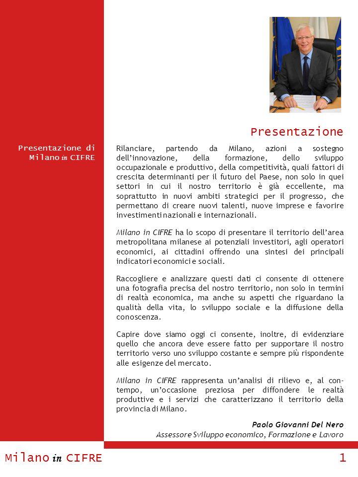 Milano in CIFRE 1 Presentazione di Milano in CIFRE Presentazione Rilanciare, partendo da Milano, azioni a sostegno dellinnovazione, della formazione,