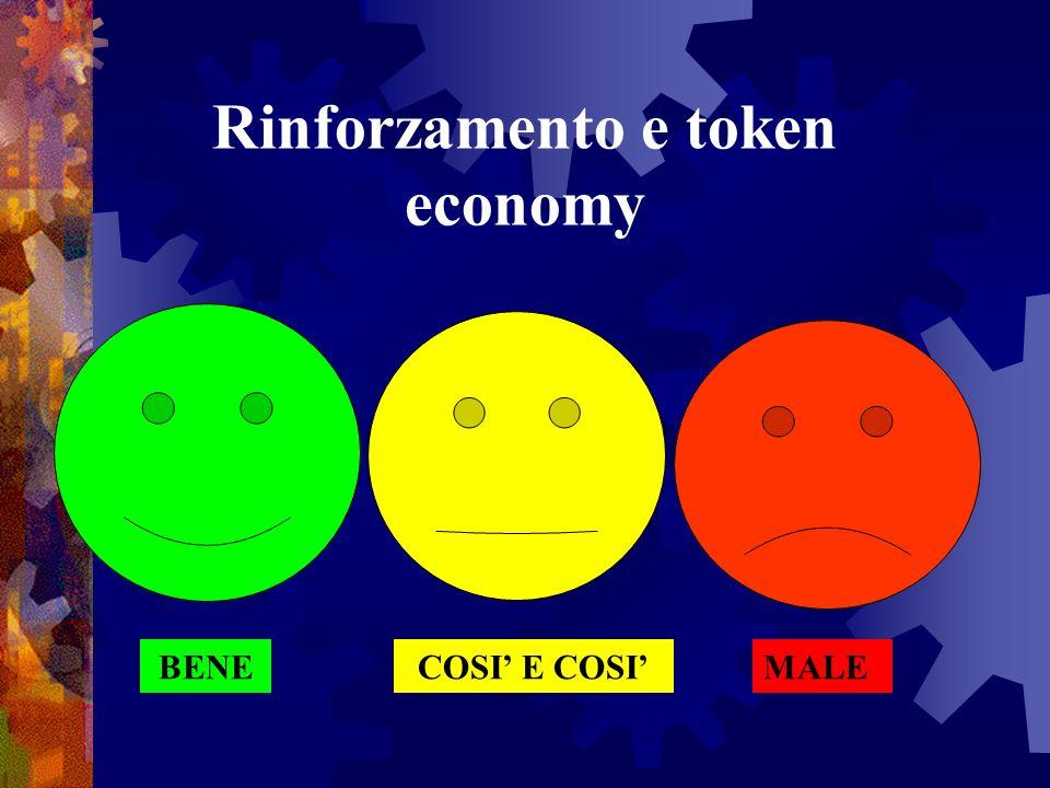 Rinforzamento e token economy BENECOSI E COSIMALE