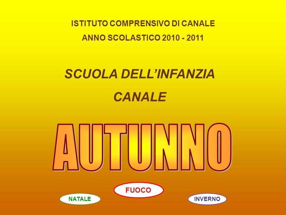 ISTITUTO COMPRENSIVO DI CANALE ANNO SCOLASTICO 2010 - 2011 SCUOLA DELLINFANZIA CANALE INVERNONATALE FUOCO