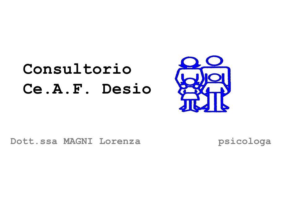 Dott.ssa MAGNI Lorenza psicologa Consultorio Ce.A.F. Desio