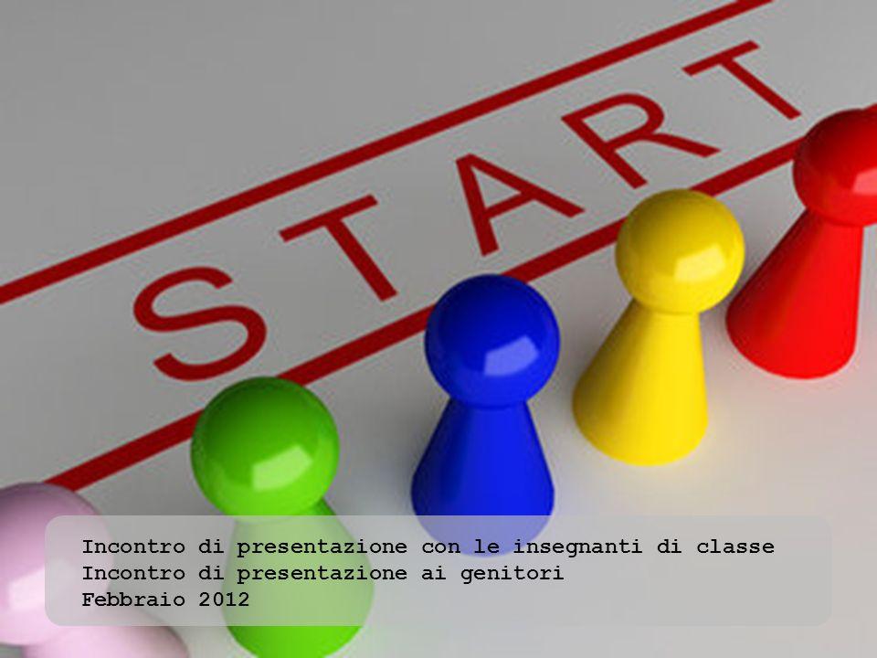 Incontro di presentazione con le insegnanti di classe Incontro di presentazione ai genitori Febbraio 2012