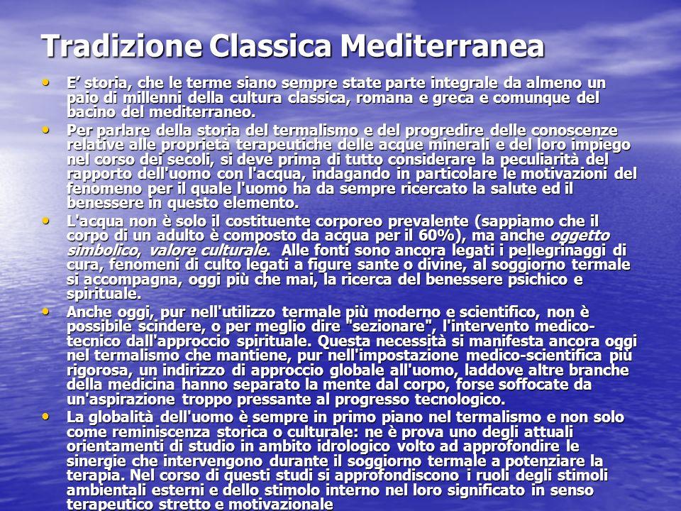 Tradizione Classica Mediterranea E storia, che le terme siano sempre state parte integrale da almeno un paio di millenni della cultura classica, roman