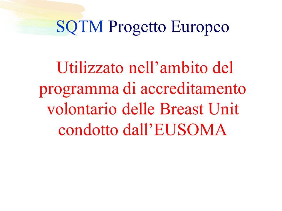 SQTM Progetto Europeo Utilizzato nellambito del programma di accreditamento volontario delle Breast Unit condotto dallEUSOMA