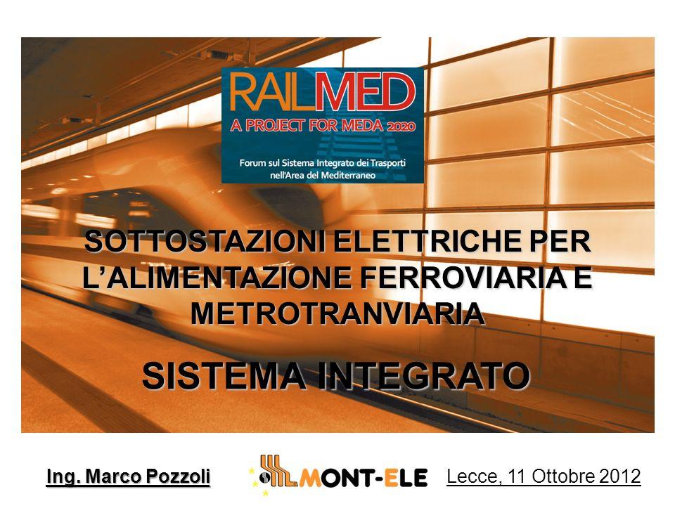 SISTEMA INTEGRATO SOTTOSTAZIONI ELETTRICHE PER LALIMENTAZIONE FERROVIARIA E METROTRANVIARIA Ing. Marco Pozzoli Lecce, 11 Ottobre 2012