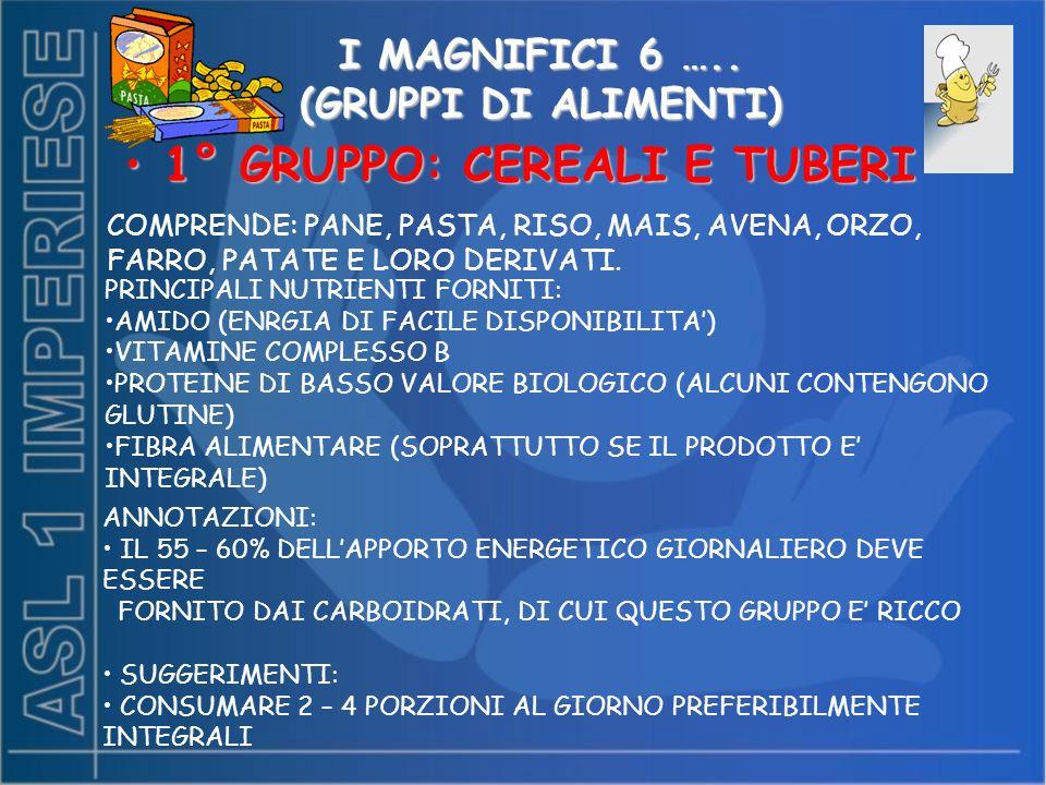 I MAGNIFICI 6 …..
