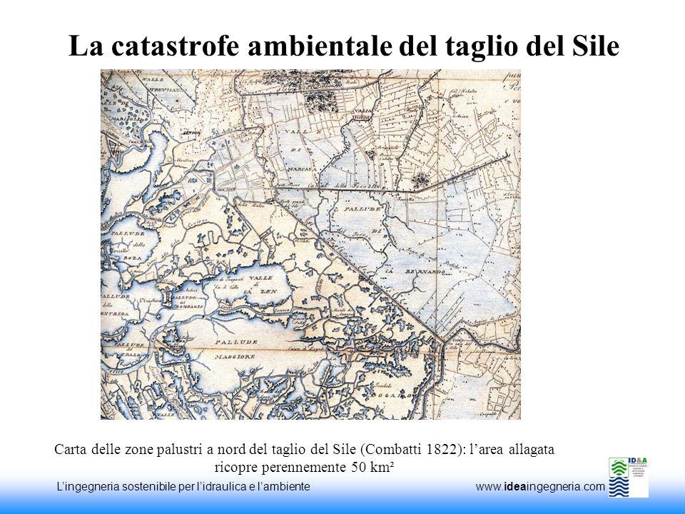 Lingegneria sostenibile per lidraulica e lambiente www.ideaingegneria.com La catastrofe ambientale del taglio del Sile Carta delle zone palustri a nor