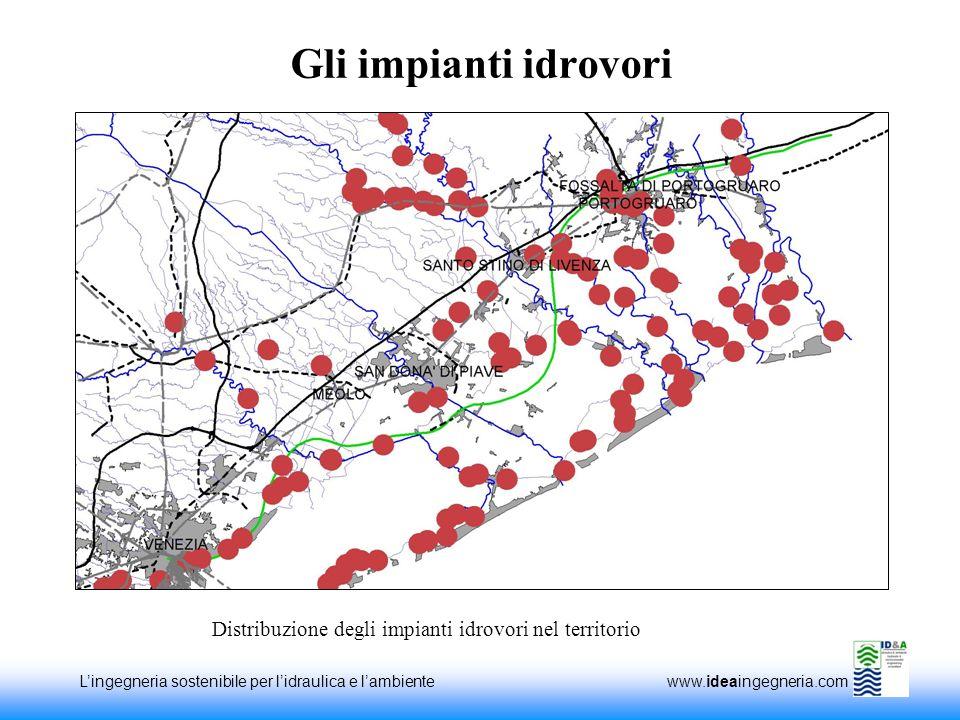 Lingegneria sostenibile per lidraulica e lambiente www.ideaingegneria.com Gli impianti idrovori Distribuzione degli impianti idrovori nel territorio
