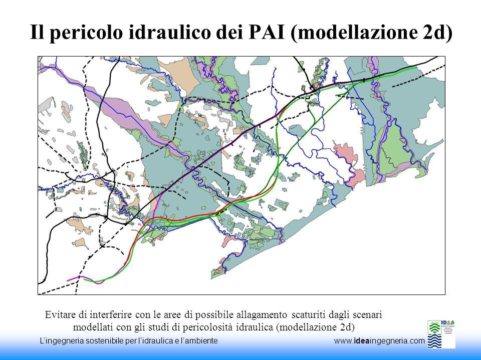 Lingegneria sostenibile per lidraulica e lambiente www.ideaingegneria.com Il pericolo idraulico dei PAI (modellazione 2d) Evitare di interferire con l