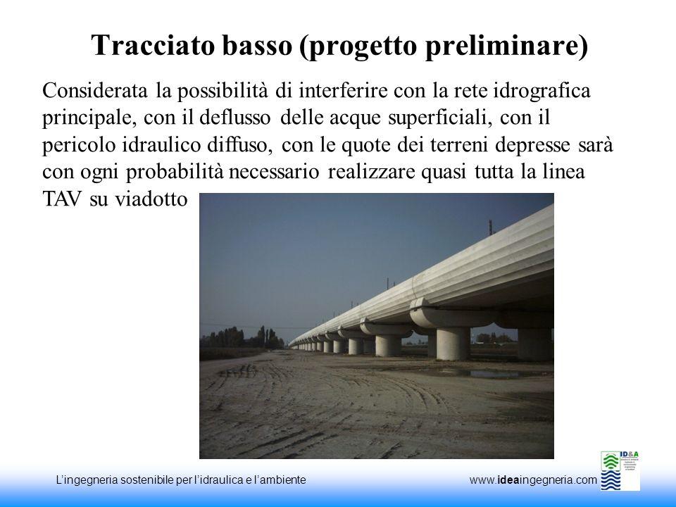 Lingegneria sostenibile per lidraulica e lambiente www.ideaingegneria.com Tracciato basso (progetto preliminare) Considerata la possibilità di interfe