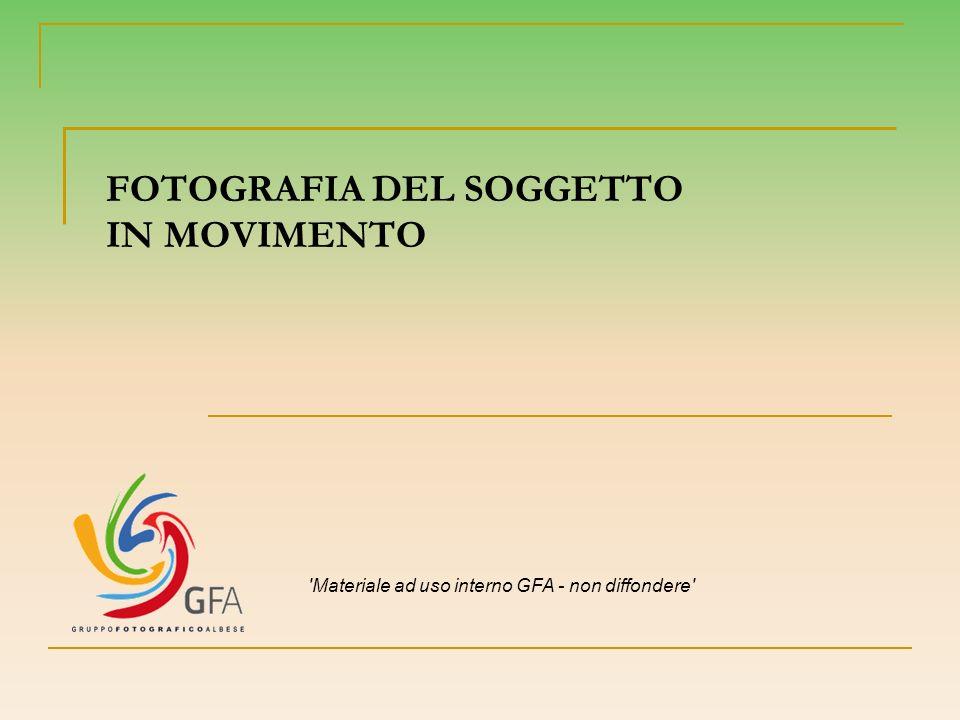 FOTOGRAFIA DEL SOGGETTO IN MOVIMENTO 'Materiale ad uso interno GFA - non diffondere'