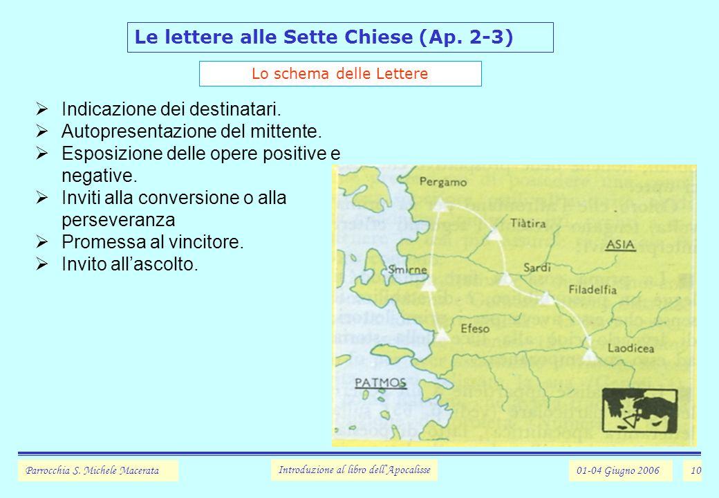 10 Le lettere alle Sette Chiese (Ap.2-3) Parrocchia S.