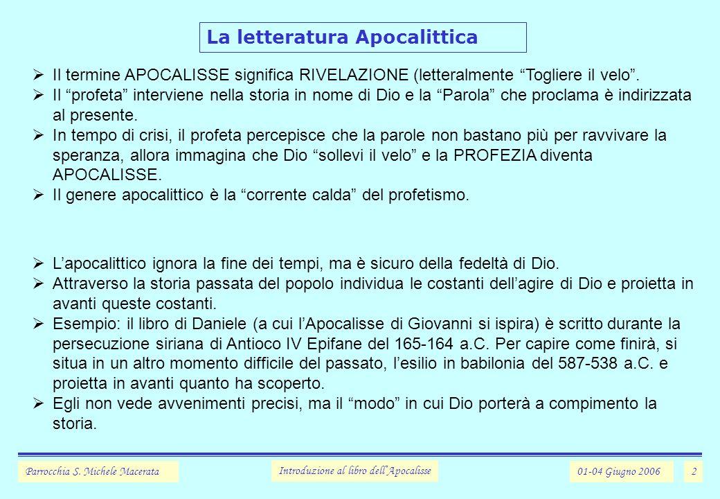 2 La letteratura Apocalittica Parrocchia S.