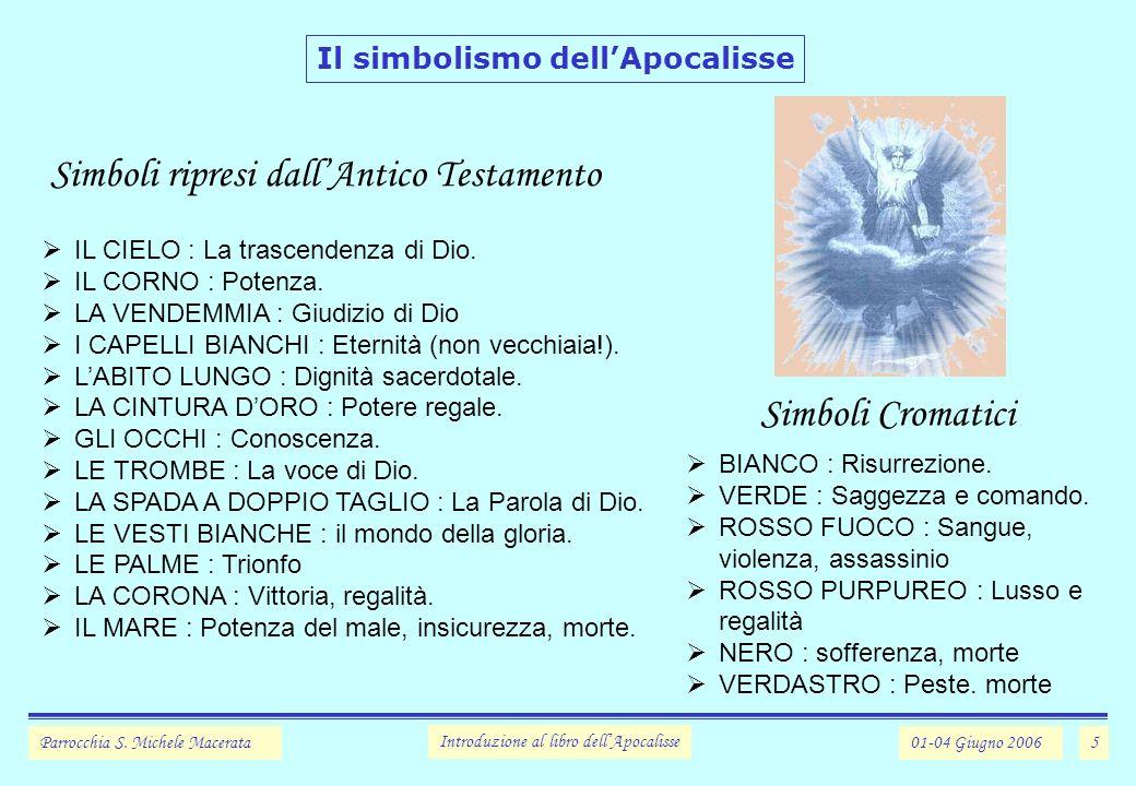 5 Il simbolismo dellApocalisse Parrocchia S.