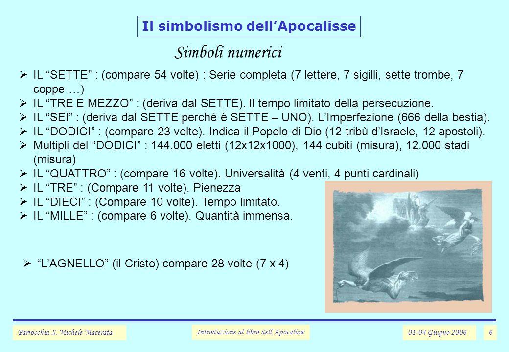 6 Il simbolismo dellApocalisse Parrocchia S.