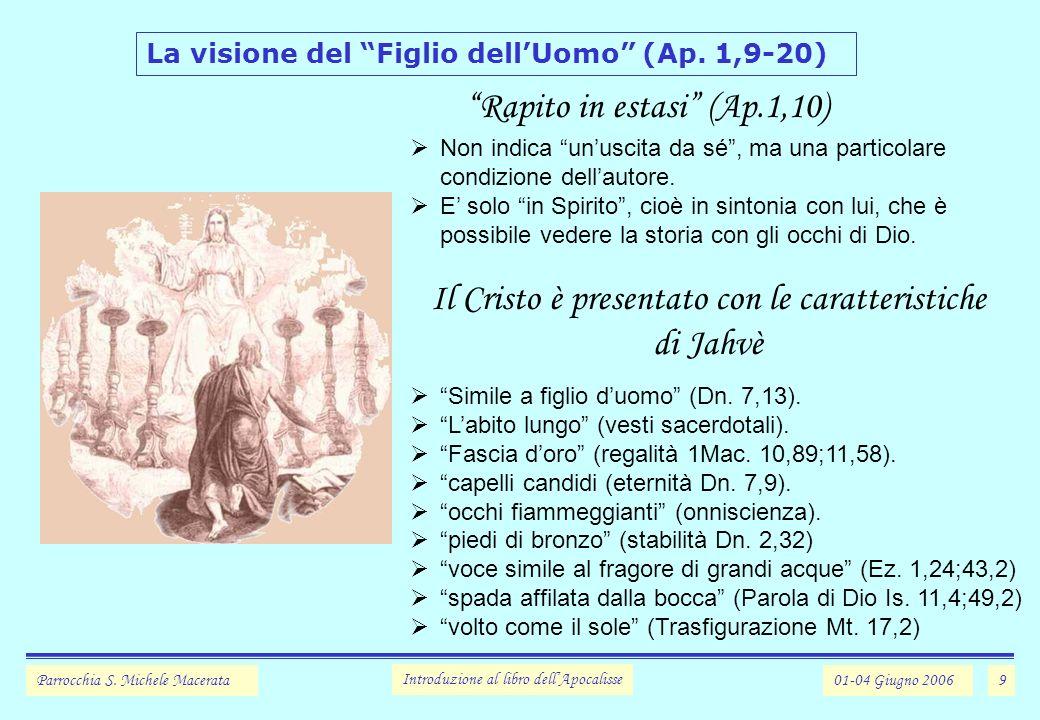 9 La visione del Figlio dellUomo (Ap.1,9-20) Parrocchia S.