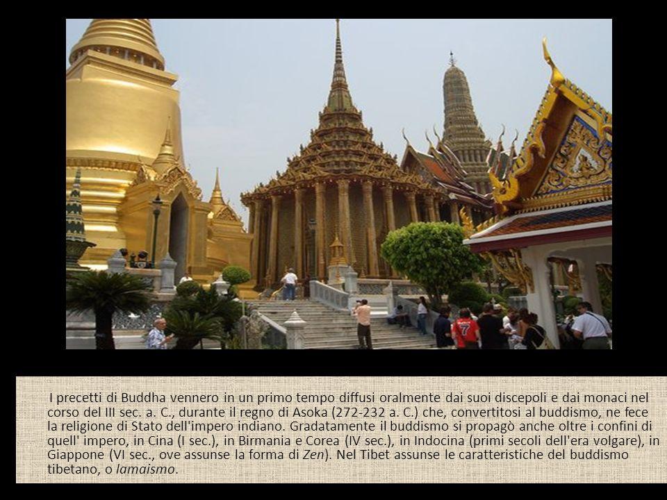 I precetti di Buddha vennero in un primo tempo diffusi oralmente dai suoi discepoli e dai monaci nel corso del III sec. a. C., durante il regno di Aso
