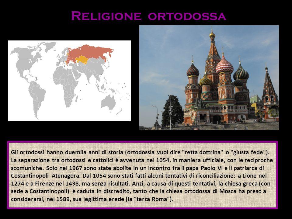 Gli ortodossi hanno duemila anni di storia (ortodossia vuol dire