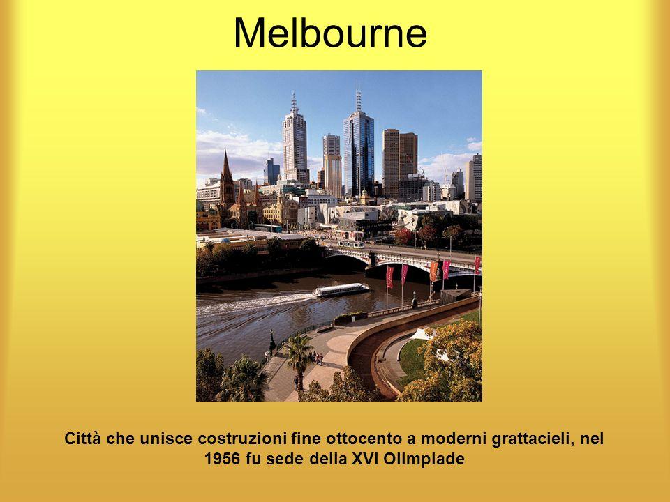 Melbourne Città che unisce costruzioni fine ottocento a moderni grattacieli, nel 1956 fu sede della XVI Olimpiade