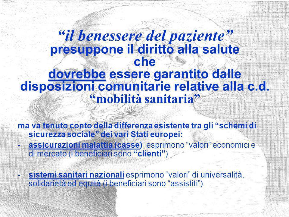 Confronto per tipo di prestazioni erogate in Italia e nella UE