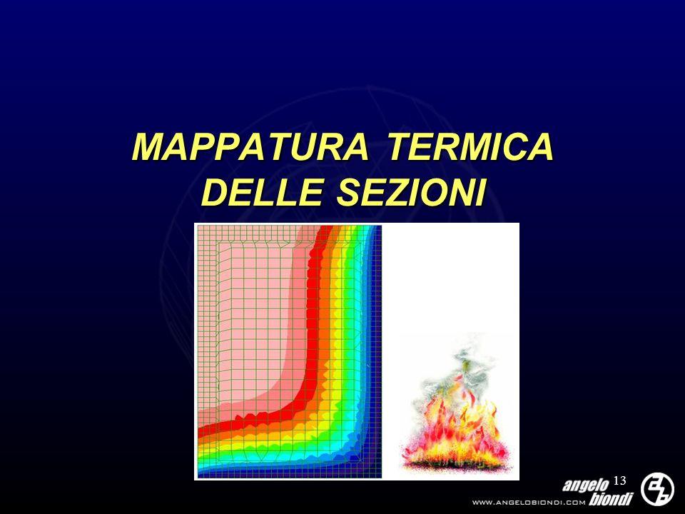 13 MAPPATURA TERMICA DELLE SEZIONI