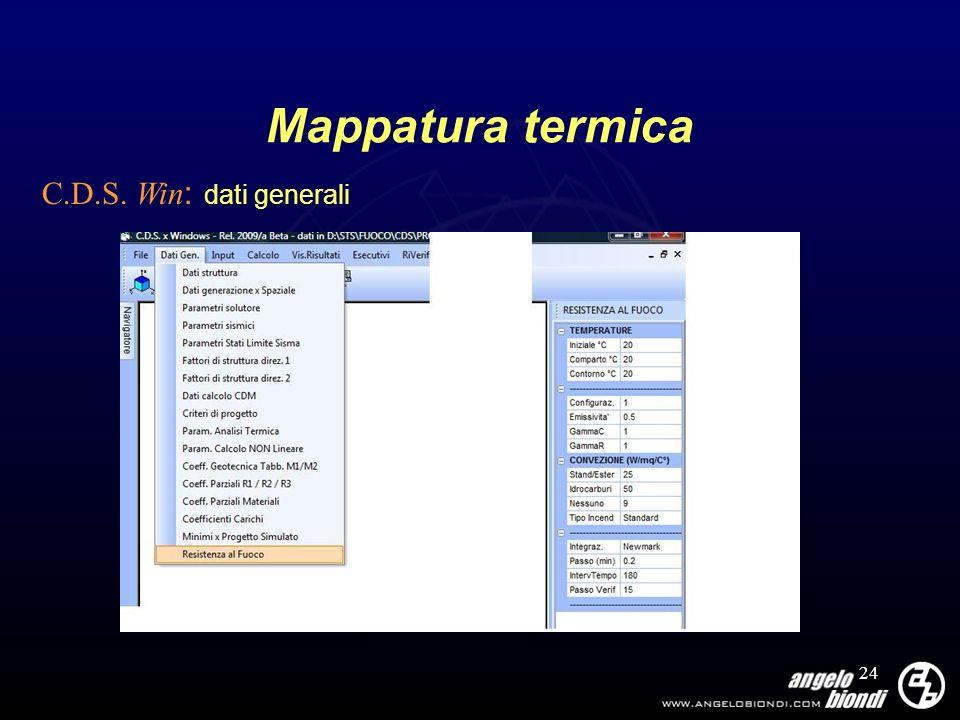 24 Mappatura termica C.D.S. Win : dati generali